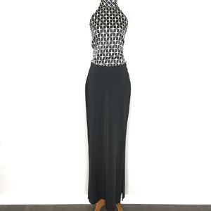 Cache Skirts - Cache Black Side Slit Thick Maxi Skirt A130332